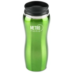 View a larger, more detailed picture of the Maui Stainless Steel Tumbler - 14 oz - Closeout