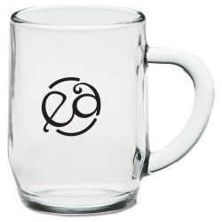 View a larger, more detailed picture of the Haworth Glass Mug - 10 oz - Closeout