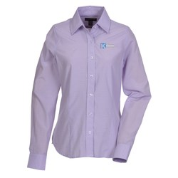 View a larger, more detailed picture of the Hayden EZ-Care Checked Shirt - Ladies - 24 hr