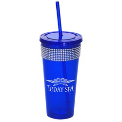 View a larger, more detailed picture of the Ice Spirit Tumbler w Straw - 20 oz - Closeout