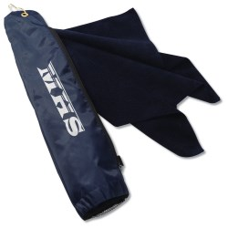 View a larger, more detailed picture of the Microfiber Golf Towel w Bag