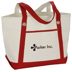 View a larger, more detailed picture of the Canvas 12 oz Sailing Tote - 20-1 2 x 13-1 2