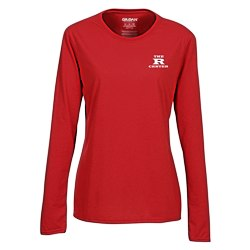 View a larger, more detailed picture of the Gildan Performance Long Sleeve Tee - Ladies