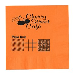 View a larger, more detailed picture of the Colorware Beverage Napkin - 2-ply - Color - Game
