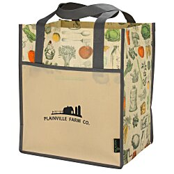 View a larger, more detailed picture of the Matte Laminated Vintage Design Grocery Tote