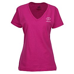 View a larger, more detailed picture of the Fruit of the Loom HD V-Neck T-Shirt Ladies - Screen- Colors