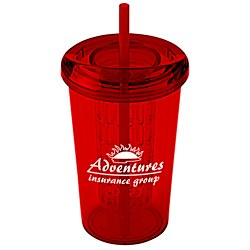 View a larger, more detailed picture of the Tutti Frutti Infuser Tumbler with Straw - 20 oz - 24 hr