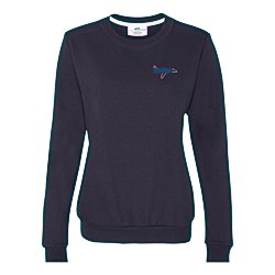View a larger, more detailed picture of the Anvil Fashion Crew Sweatshirt - Ladies - Embroidery