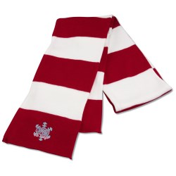 View a larger, more detailed picture of the Rugby Knit Scarf - Overstock