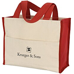 View a larger, more detailed picture of the Cotton Gusset 14 oz Accent Box Tote