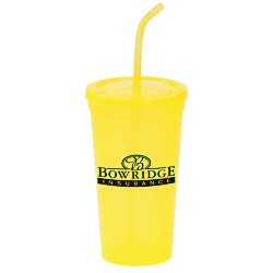 View a larger, more detailed picture of the Brilliantly Bent Straw Tumbler - 22 oz