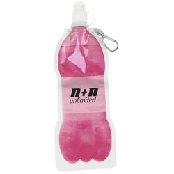 View a larger, more detailed picture of the Bottle It Foldable Bottle w Carabiner - 14 oz