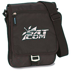 View a larger, more detailed picture of the Zoom iPad Messenger Bag - 24 hr