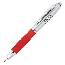 View a larger, more detailed picture of the Silver Shine Pen w Flashlight - 24 hr