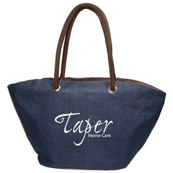 View a larger, more detailed picture of the Zip Jute Tote