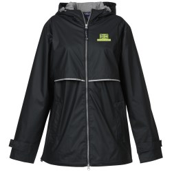 View a larger, more detailed picture of the New Englander Rain Jacket Ladies Emb Closeout Color
