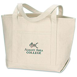 View a larger, more detailed picture of the Solid Cotton Yacht Tote - Natural - 13 x 20