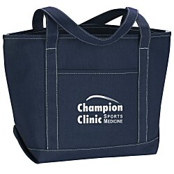 View a larger, more detailed picture of the Solid Cotton Yacht Tote - Colors - 13 x 20