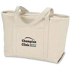 View a larger, more detailed picture of the Solid Cotton Yacht Tote - Natural - 14 x 24