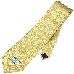 View a larger, more detailed picture of the Solid Herringbone Polyester Tie