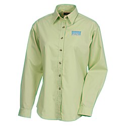 View a larger, more detailed picture of the Capulin EZ-Care Fine Line Twill Shirt - Ladies - 24 hr