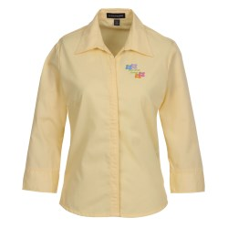 View a larger, more detailed picture of the Capulin Sleeve EZ-Care Fine Line Twill Shirt-Ladies -24 hr