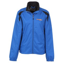 View a larger, more detailed picture of the Meru Color Block Lightweight Jacket - Ladies - 24 hr