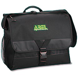 View a larger, more detailed picture of the Focus Laptop Messenger Bag - Embroidered