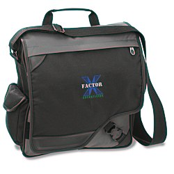View a larger, more detailed picture of the Satellite Vertical Laptop Bag - Embroidered