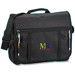 View a larger, more detailed picture of the Global Messenger Bag - Embroidered