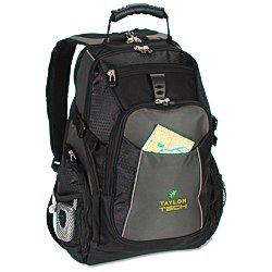 View a larger, more detailed picture of the Vertex Laptop Backpack - Embroidered