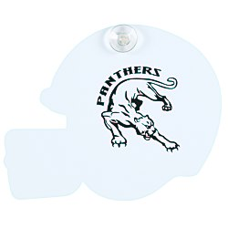 View a larger, more detailed picture of the Window Sign - Football Helmet - Plastic - White