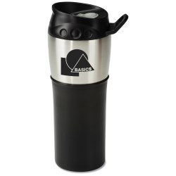 View a larger, more detailed picture of the Grab n Go Stainless Tumbler - 16 oz - Closeout