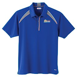 View a larger, more detailed picture of the Quinn Color Block Textured Polo - Men s - TE Transfer