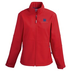 View a larger, more detailed picture of the Cavell Soft Shell Jacket - Ladies - TE Transfer