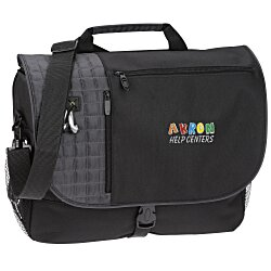 View a larger, more detailed picture of the Verve Checkpoint-Friendly Laptop Messenger Bag - Emb