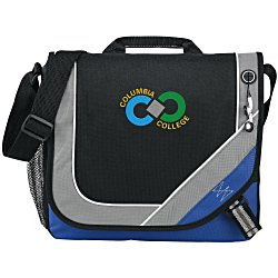 View a larger, more detailed picture of the Bolt Urban Messenger Bag - Embroidered