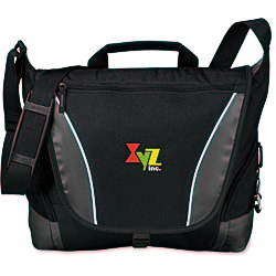 View a larger, more detailed picture of the Edge Messenger Bag - Embroidered