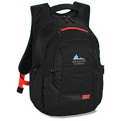 View a larger, more detailed picture of the Case Logic Cross-Hatch Laptop Backpack - Emb