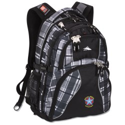 View a larger, more detailed picture of the High Sierra Swerve Laptop Backpack-Plaid - Embroidered