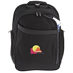 View a larger, more detailed picture of the Checkmate Checkpoint Friendly Laptop Backpack - Emb