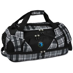 View a larger, more detailed picture of the High Sierra 24 Crunk Cross Sport Duffel - Plaid - Emb
