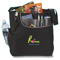 View a larger, more detailed picture of the Transpire Deluxe Business Tote - Embroidered