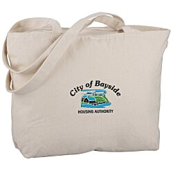 View a larger, more detailed picture of the Signature Cotton 12 oz Zippered Tote - Embroidered