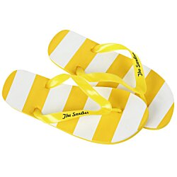 View a larger, more detailed picture of the Striped Flip Flops