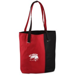View a larger, more detailed picture of the Mod Two-Tone Cotton Tote - Closeout
