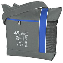 View a larger, more detailed picture of the Cityscape Zippered Tote