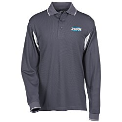 View a larger, more detailed picture of the Action LS Waffle Knit Polo
