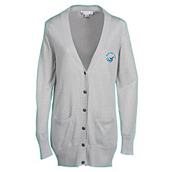 View a larger, more detailed picture of the Elizabeth Metallic Boyfriend Cardigan