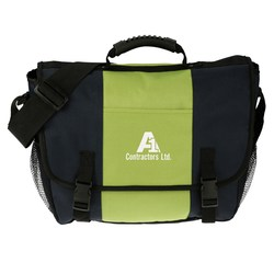 View a larger, more detailed picture of the 4imprint Messenger Bag - Screen - Closeout